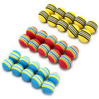 10Pcs Rainbow Stripe foam Sponge Golf Balls Swing Practice Training Aids IM
