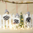 Christmas Wooden Dolls Home Decoration Doll Mini Santa Claus Hanging Pendant Toy