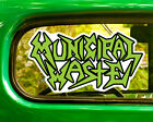 2 Municipal Waste Band Decals Stickers Bogo For Car Truck Window Bumper Laptop