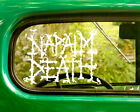 2 NAPALM DEATH BAND DECALs Stickers Bogo For Car Truck Window Bumper Laptop