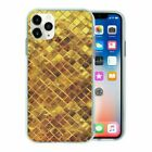 Gold Tiles Print TPU Back Case Cover For Mobile Phone - S235