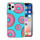 Silicone Phone Case Back Cover Food Donut Pattern - S10495