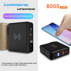 For Samsung Galaxy S10 Plus External Qi Wireless Fast Power Bank Battery Charger