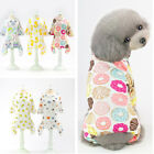 Small Pet Dog Cat Jumpsuit Warm Indoor Puppy Pajamas Cotton Home Costume Clothes