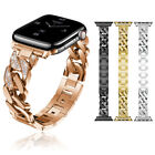 For Apple Wstch Series 4 40mm/44mm Crystal Stainless Steel Band Wristband Strap