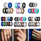 Flexible Silicone Ring Men Women Rubber Wedding Band 7/10 PACK Set Size 5-14#