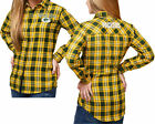 Forever Collectibles NFL Women's Green Bay Packers Check Flannel Shirt $46.08 CAD on eBay