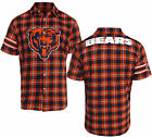 Forever Collectibles NFL Men's Chicago Bears Color Block Short Sleeve Flannel on eBay