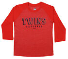 Majestic MLB Youth Minnesota Twins Baseball Academy 3/4 Sleeve Raglan Tee on Ebay