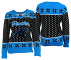 Forever Collectibles NFL Women's Carolina Panthers Big Logo V-Neck Sweater $34.99 USD on eBay