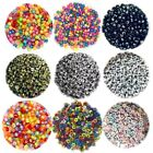200x English Letter 6mm-7mm Flat Round Beads For Jewellery Making