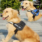 Dog Pet Vest Harness Collar W/ Removable Patches,Size Large Medium Small Big