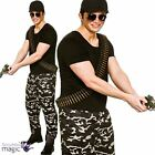 Adults Mens Special Forces Camo Military Army Uniform Fancy Dress Costume Outfit