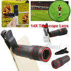 US HD 14x Optical Zoom Clip Camera Lens Phone Telescope For Universal Cell Phone