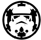 Star Wars Storm Trooper over Empire Sticker Vinyl Decal Car Laptop Window $1.99 USD on eBay