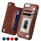 Magnetic Leather Wallet Case Card Slot Shockproof Flip Cover for iPhone X XS