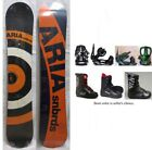 "NEW ARIA ""TARGET STICK"" SNOWBOARD, BINDINGS, BOOTS PACKAGE - 154cm"