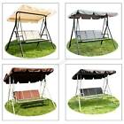 Birchtree Garden Metal Swing Hammock 3 Seater Chair Bench Outdoor Shelter Sc08