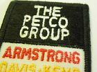 Vintage The Petco Group Business Advertising Embroidered Iron On Patch