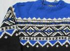 POLO RALPH LAUREN mens Large blue black wool Fair Isle Nordic sweater $295 NEW