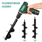 "3''X10"" 12"" Earth Auger Plant Ground Fence Post Hole Digger Drilling Drill Bit"