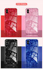 Glitter Marble Tempered Glass Case Shell for iPhone XR X XS Max 8 7 6s 6 Plus