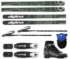 NEW ALPINA CONTROL 64 CROSS COUNTRY NNN SKIS/BINDINGS/BOOTS/POLES PACKAGE -175cm