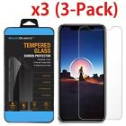 Phone X / X Screen Protector 3-Pack HD Hardness Tempered Glass for iPhone X / XS