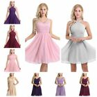 Women Lace V Neck Formal Wedding Evening Ball Gown Party Prom Bridesmaid Dresses
