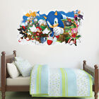 Sonic The Hedgehog Wall Mural - All Characters Smashed Wall Sticker Art Decal