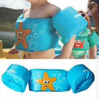 Cartoon Children's Swimming Aid Life Jacket Vest w/ Arm Band Ring Water Wings US