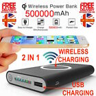Qi Wireless Charger Power Bank 500000mAh For iPhone Samsung Mobile Phone Devices