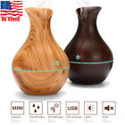 Aroma Essential Oil Diffuser Wood Grain Ultrasonic Aromatherapy Humidifier 130ML