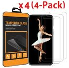(4-Pack) Premium Tempered GLASS Screen Protector For iPhone