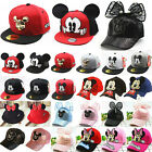 Kids Boys Girls Mickey Minnie Mouse Baseball Cap Snapback Sports Peaked Sun Hat