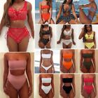 Womens Strapless Bandeau Bathing Swimsuit High Waist Swimwear Swim Bikini Set $7.35 USD on eBay