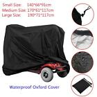 Heavy Duty Waterproof Oxford Three Size Mobility Scooter Storage Rain Cover UK