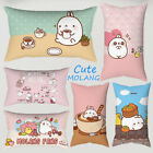 Cute Molang Rabbit Pillowcase Sofa Waist Cushions Cover Throw Pillows Home Decor image