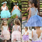 Litte Baby Girl Lace Tulle Party Pageant Dress Prom Wedding Bridesmaid Dresses