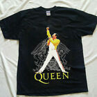 Freddie Mercury Queen Gildan Heavy T Shirt Black Cotton SIze S M L XL 2XL image