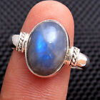 Natural Cab Oval Labradorite Gemstone 925 sterling silver Ring Choose Size