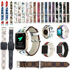 Floral Leather Band Strap & Adapter iWatch 38/40/42/44mm For Apple Watch Series image