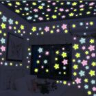 100 Pcs Wall Glow In The Dark Stars Luminous Stickers Kids Bedroom Nursery Room