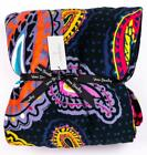 "VERA BRADLEY OUTLET Twilight Paisley Plush Throw Blanket 80"" x 50"" image"