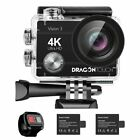 Dragon Touch Vision 4 HD 4K/30fps WIFI Sports Action Camera 16MP DV Camcorder US