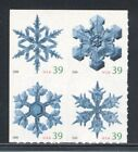 4113-4116  SNOWFLAKES 39c FROM ATM PANE MINT SUPERB-NH