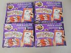 Craft House Rub & Color The Flintstones Toy Lot of 4 NOS