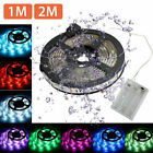 Waterproof 5050 RGB Multicolor Battery Powered LED Flexible Light Strip 1M/2M