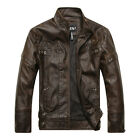 2019 Men's Genuine Lambskin Leather Jacket Slim Fit Biker Motorcycle Jacket Coat