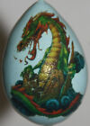 gourd Easter egg or Christmas ornament with dragon